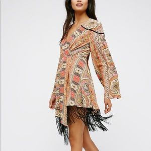 Free People Cactus Rose wrap dress